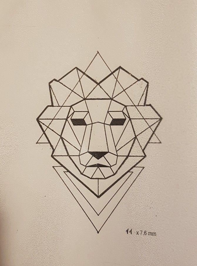 #tatoo #tatuaggio #lion #leone #geometric #geometrico
