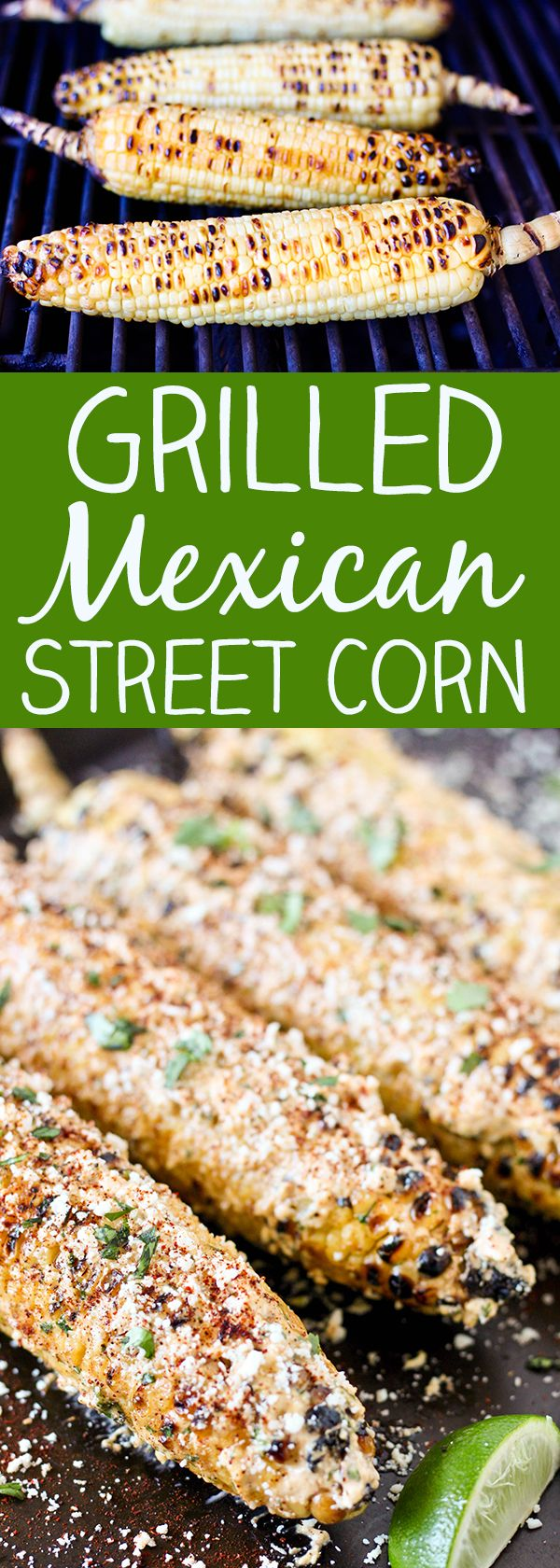 Grilled Mexican Street Corn Recipe - this amazing corn on the cob is bursting with fresh mexican flavors!