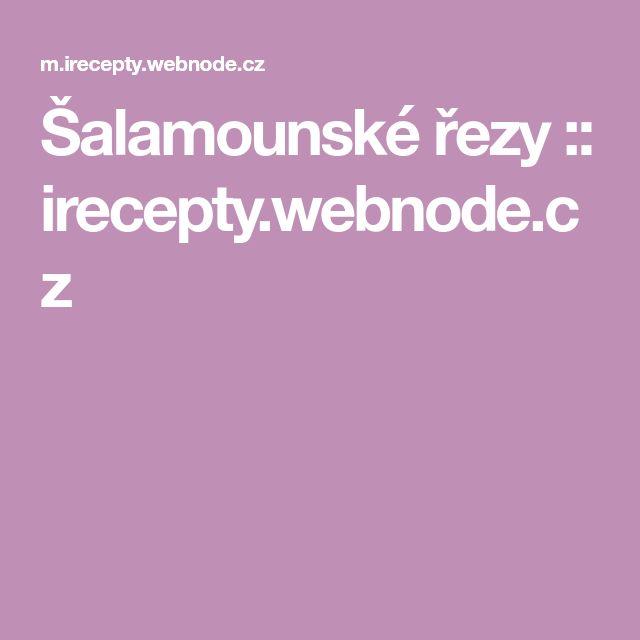 Šalamounské řezy :: irecepty.webnode.cz