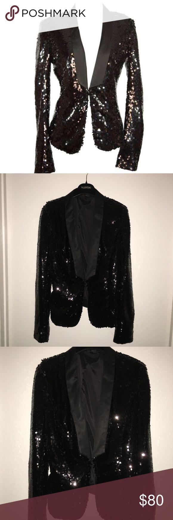 Rachel Zoe Sequined Tuxedo Blazer Rachel Zoe 'Liza' Sequined Tuxedo Blazer. SHOULDER PADS WERE REMOVED. Worn once! Excellent condition Rachel Zoe Jackets & Coats Blazers