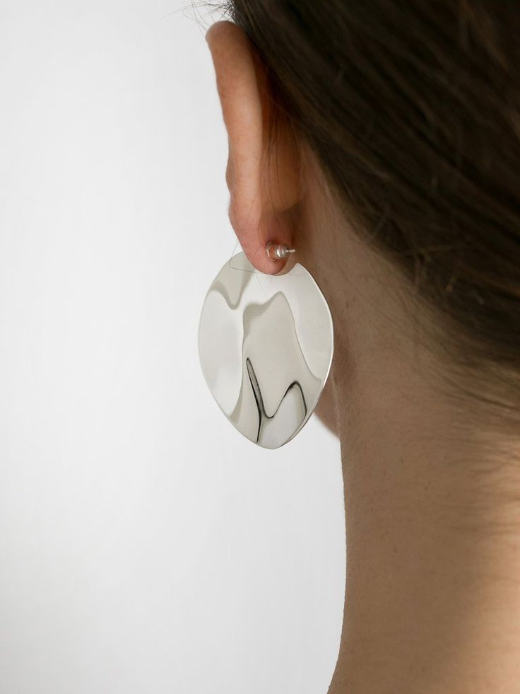 HOLLY RYAN | Large Wavee Earrings Sterling Silver | The UNDONE by Holly Ryan