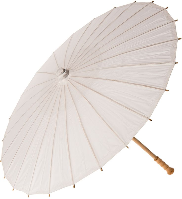 Small Chinese/Japanese Paper Parasol (20-Inch, Perfect White, For Children or Decorative Use)   Luna Bazaar