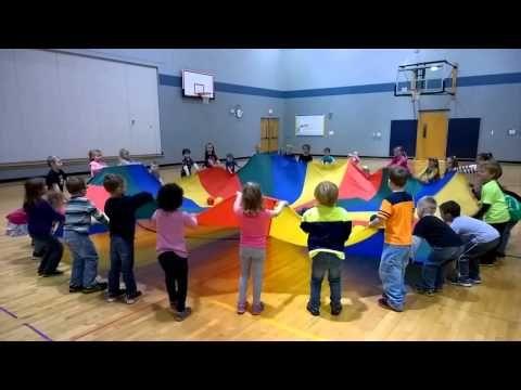 2014 Kindergarten Parachute Fun! - YouTube