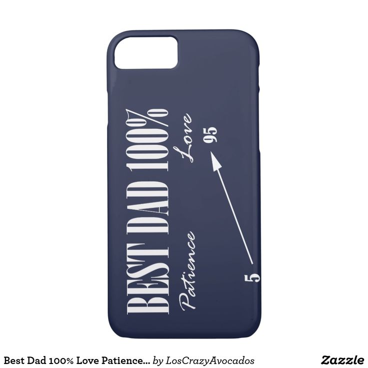 Best Dad 100% Love Patience Father IPhone Case