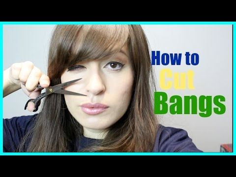 How to cut side swept bangs at home - YouTube