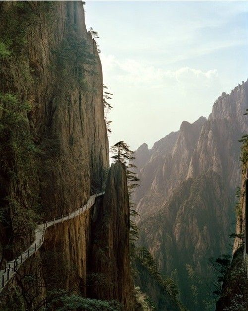 Don't fall off:  Drop-Off, Paths, Cliff, The Edge, Pathways, Trail Running, The Way, China, Grand Canyon