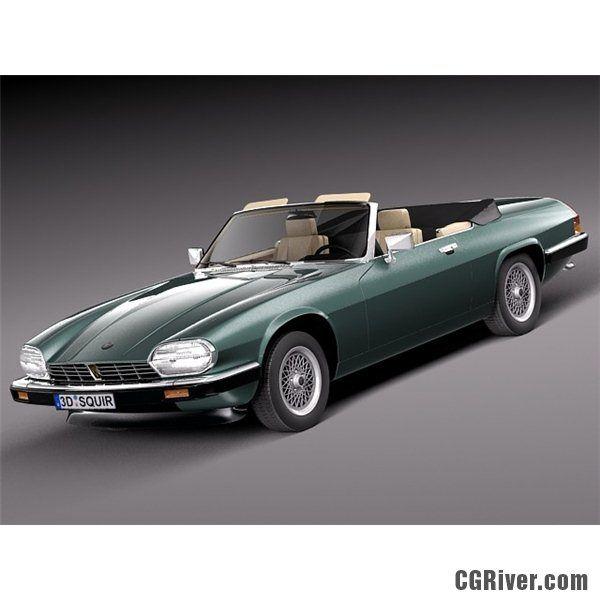 Jaguar XJS Convertible 1975 - 3D Model