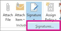 How to add signature Outlook 2013 & 2016
