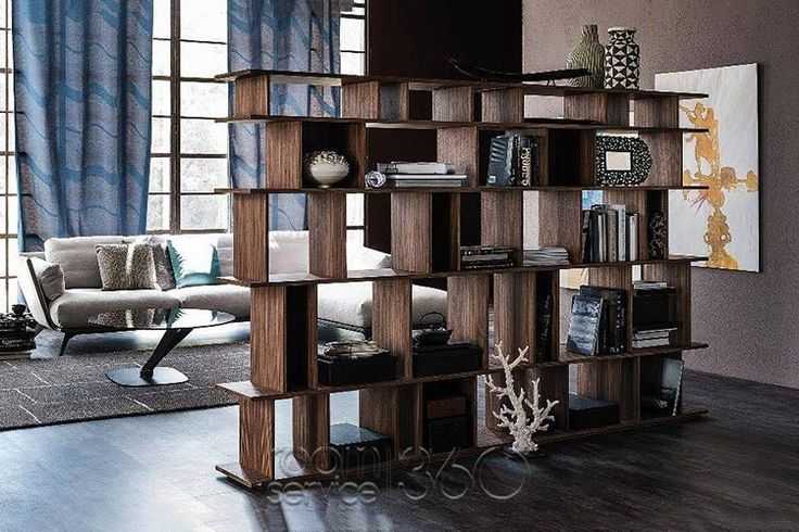 Loft Contemporary Bookcase in Walnut Finish by Cattelan Italia