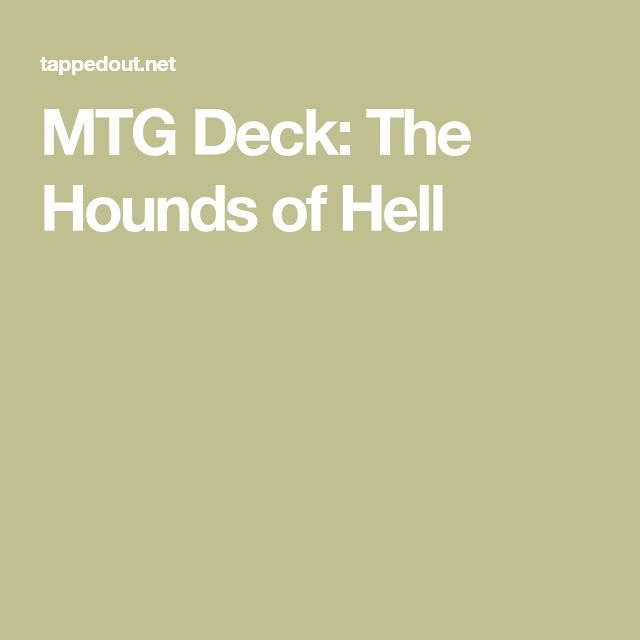 MTG Deck: The Hounds of Hell