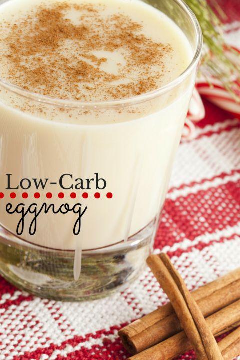 Low-carb eggnog