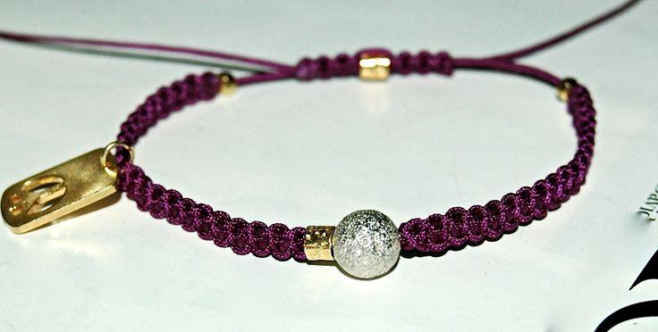 BRACELET MACRAME OR ET ARGENT MELANGE PRECIEUX : Bracelet par evencil