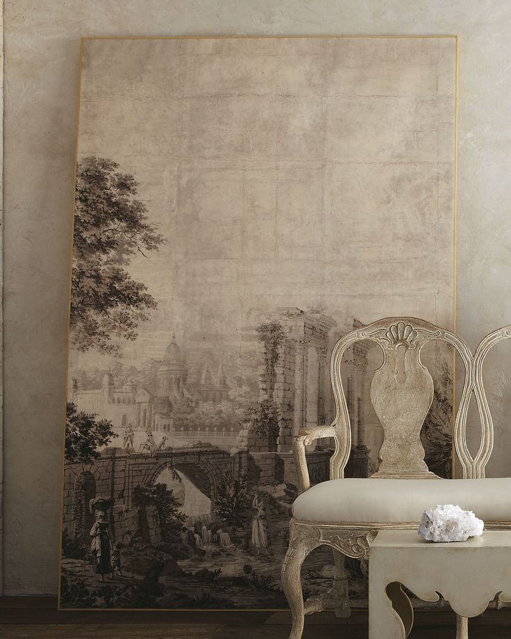 Italian grisaille murals grisaille - Grisaille wallpaper ...