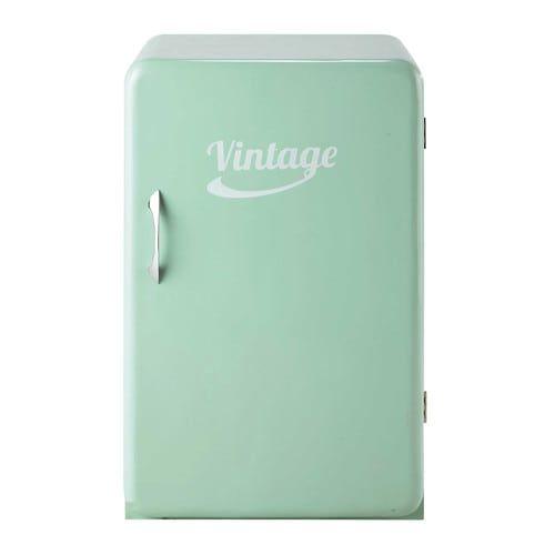 Credenza frigo vintage verde acqua L 55 cm