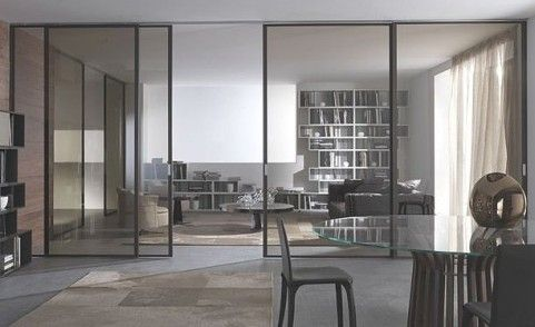 """Sliding glass door for space and charm 