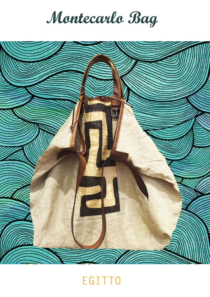 Montecarlo bag: African Chic for your summer  shop online  https://www.etsy.com/it/listing/285503491/montecarlo-bag-borsa-in-pelle-e-canvas?ref=shop_home_active_8