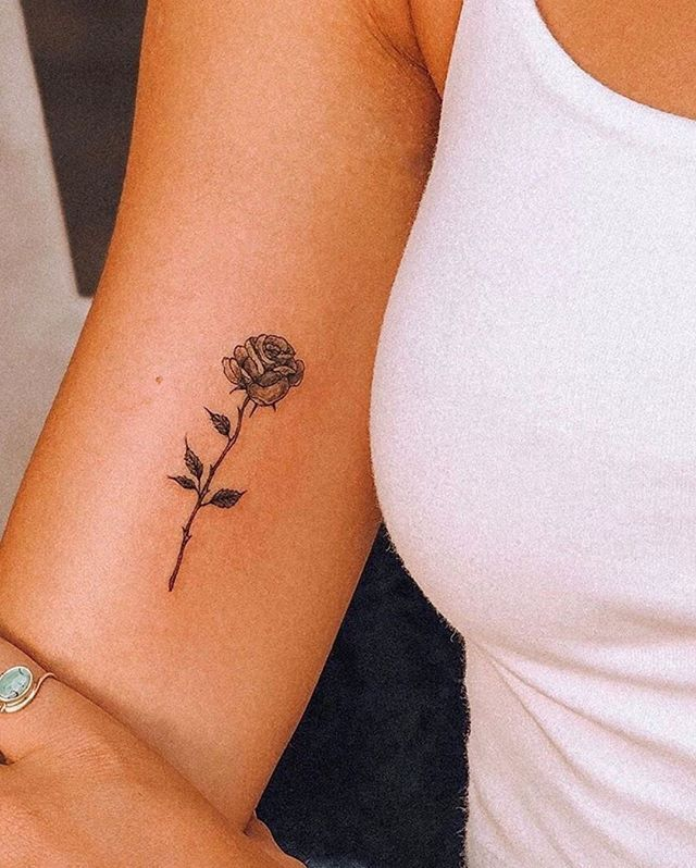 Do You Like This Tattoo Save It For Later Follow Ti With Images Rose Tattoos On Wrist Rose Neck Tattoo Small Girly Tattoos
