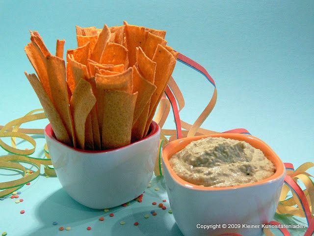 Tortilla-Sticks mit Avocado-Limetten-Dip