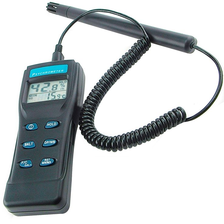 8723 Digital Air Thermo-Hygrometer / Psychrometer / Thermometer Humidity Wet Bulb Detachable Probe