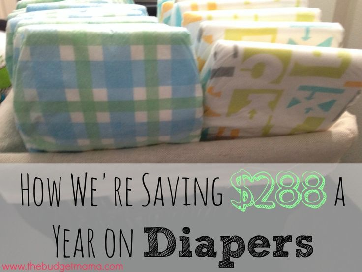How We're Saving $288 a Year on Diapers - Without Using Cloth Diapers via The Budget Mama