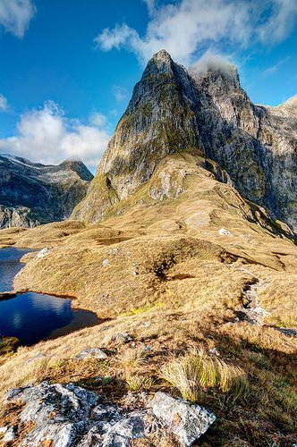 Travel Inspiration for New Zealand - Milford Track in Fiordland National Park, New Zealand.
