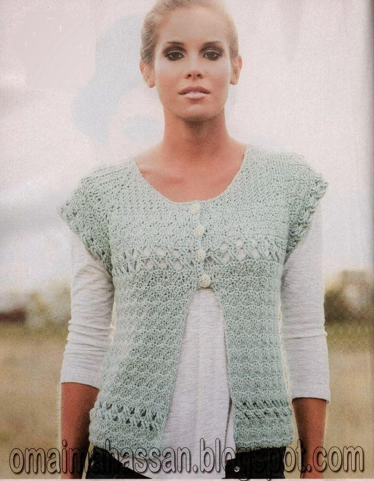 Free Crochet Pattern For Short Cardigan : 2956 best images about Crochet vest on Pinterest Crochet ...