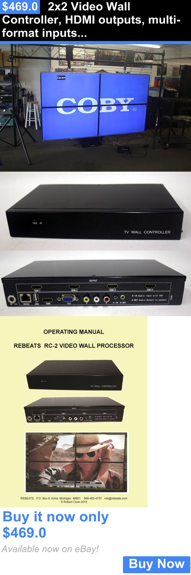 Other TV Video and Audio Parts: 2X2 Video Wall Controller, Hdmi Outputs, Multi-Format Inputs, Free Shipping BUY IT NOW ONLY: $469.0