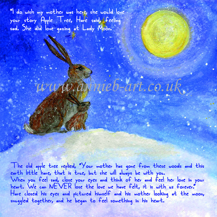 From the story book, The hare and the wise old apple tree' by annie b. www.annieb-art.co.uk