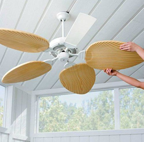 Palm Leaf Ceiling Fan Blades Set Of 5