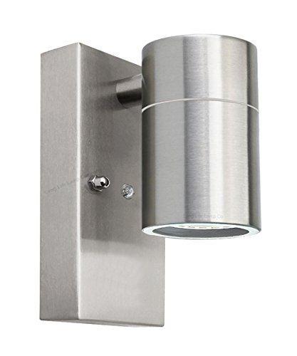 Single Outdoor Wall Light Dusk Till Dawn Sensor Stainless
