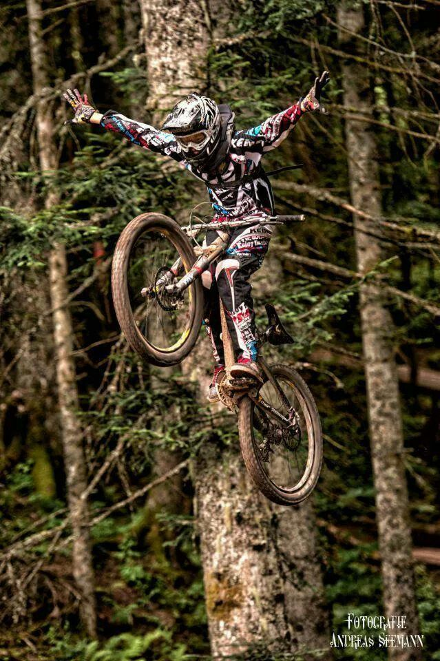 """Anything that can be done on a dirt bike looks better on a downhill bike Use code """"PINME"""" for 40% off all hammocks on maderaoutdoor.com. 2 trees planted per hammock purchased!"""