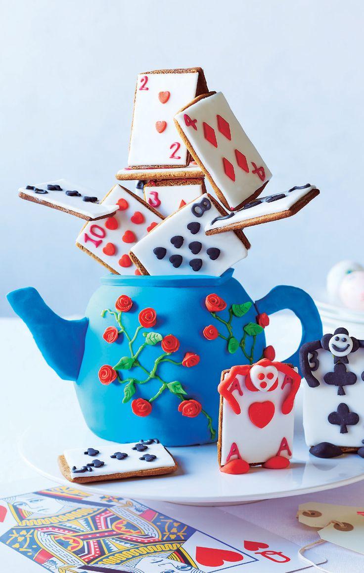 colouring books for adults asda : Alice In Wonderland Teapot Cake Asda Good Living