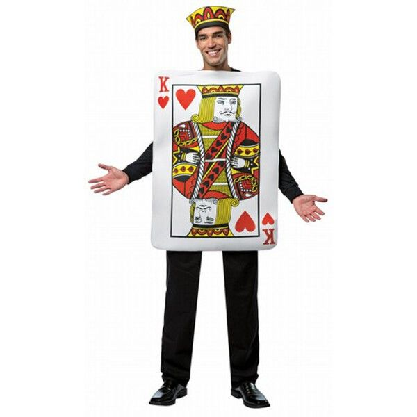 This costume puts a fun, new twist on the classic. The adult King of Hearts…