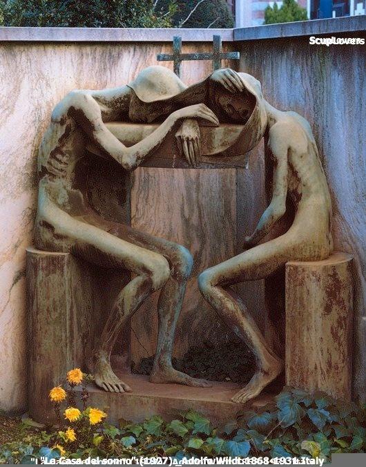 """""""La Casa del sonno"""".(1927) _Adolfo Wildt.1868-1931.Italy"""