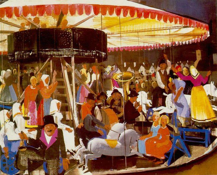 Carousel  by Vilmos Aba-Novák