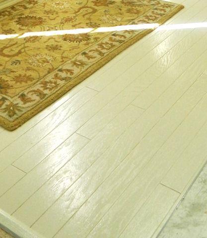 Best 25 painting hardwood floors ideas on pinterest Worn wood floors
