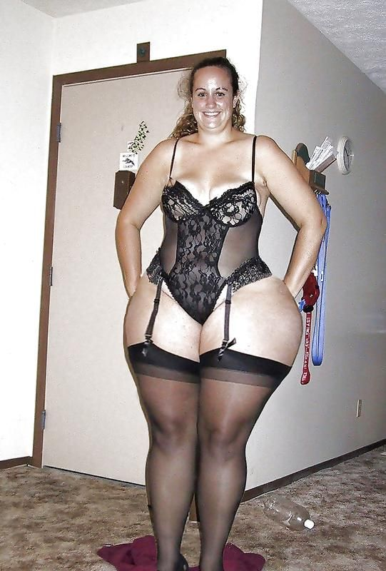 thighs Mom stockings thick