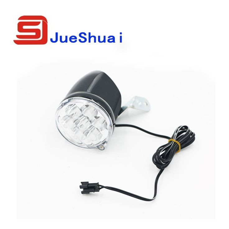New arrival 36V 7 x  LED Bicycle Front Flash Light Round Head Lamp 36V Bike Head Lights Rechargeable 120CM Wire Free Shipping