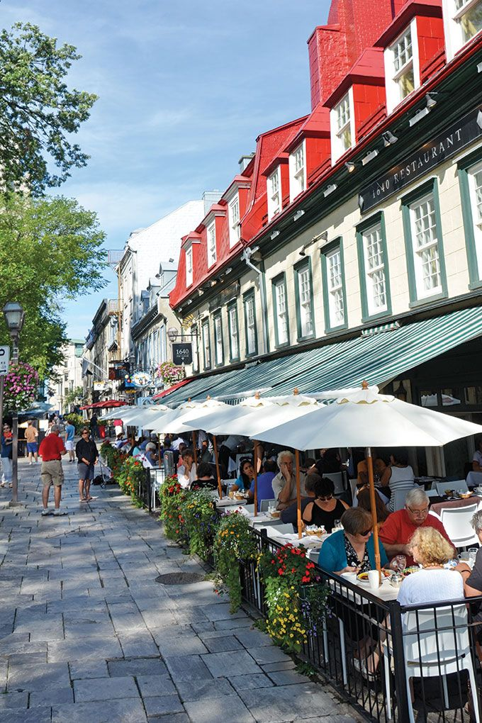 Teatime in Québec - With gourmet food, charming sidewalk cafes, and fashionable salons de thé in nearly every neighborhood, vacationing in Quebec is like a trip to France—without the transatlantic plane ticket.