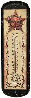 """Together We Can Weather Anything 17"""" Long Thermometer - The Rustic Shop"""