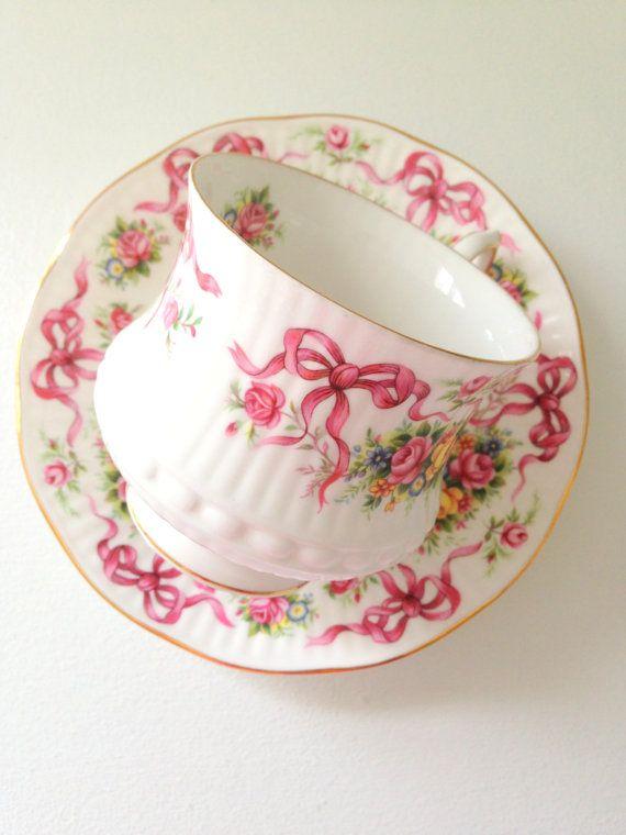 Vintage Queen's Rosina English Tea Cup & Saucer by MariasFarmhouse, $65.00