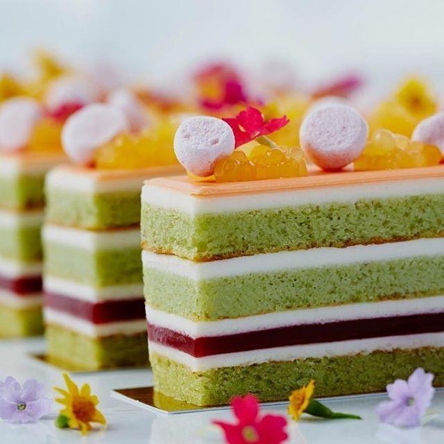 White Chocolate Cream, Pistachio, Strawberry and Orange Basil Pearls by Chef Joel Reno