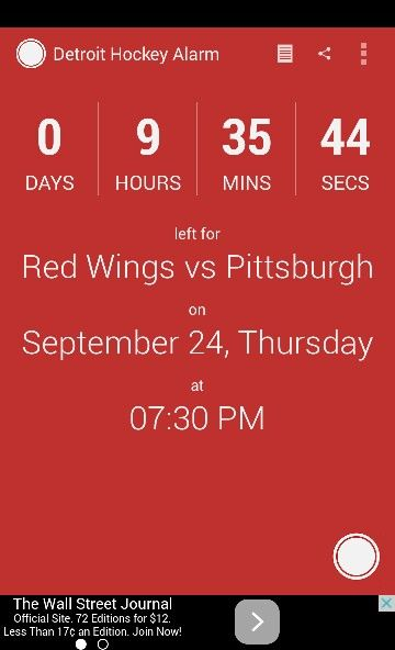Exposition game tonight! Wings vs. Penguins