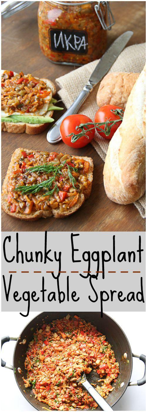 Chunky Eggplant Vegetable Spread. ValentinasCorner.com