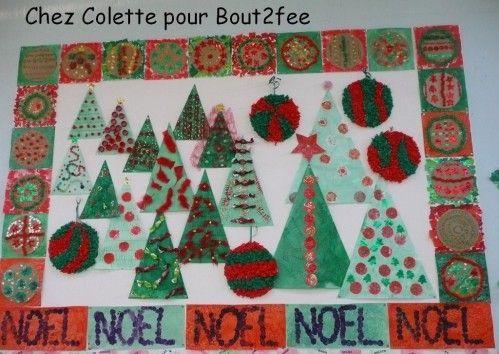 Colette a également fait des sapins/triangles. De quoi donner de belles idées…