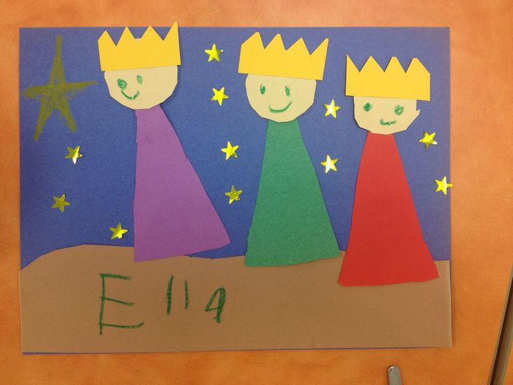 Three Wise Men craft, Kindergarten, Sunday School