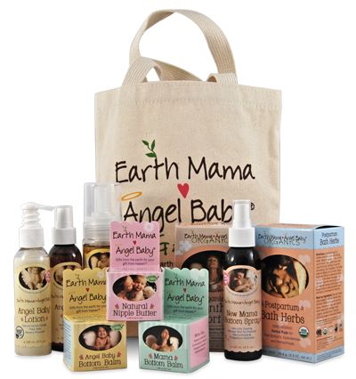 Earth Mama Angel baby Birth Baby full of organic goodies to take care of new mommies #EarthMama