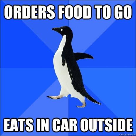 Socially Awkward Penguin -- HECK yeah!  I do this... doesn't everyone??  LOL!    <3<3<3