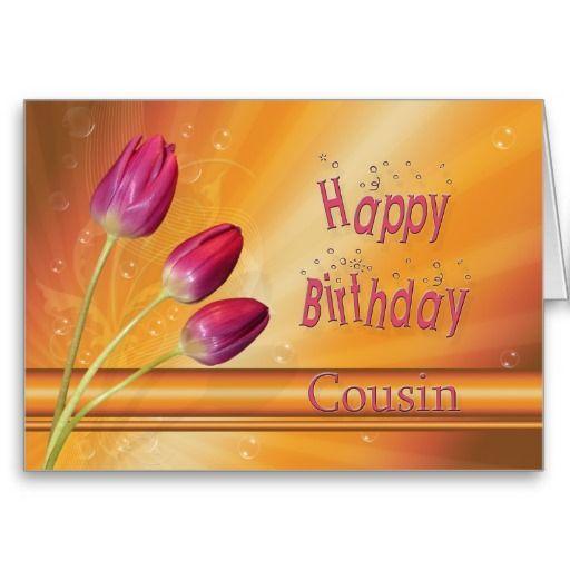 Cousin Birthday Tulips Full Of Sunshine Card Cousin
