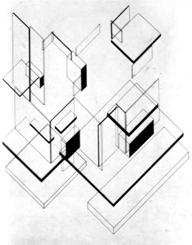 Maison Particulier (1922) - Cornelis van Eesteren and Theo van Doesburg - in relation to popolo